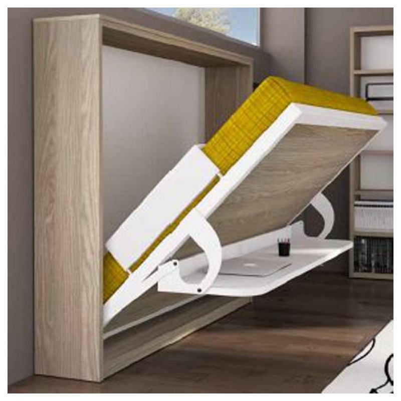 Cama horizontal abatible con escritorio mod eagle programa spacio furnet - Cama abatible escritorio ...