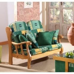 Sof 2 plazas provenzal mod j05 furnet - Sofas rusticos de madera antiguos ...