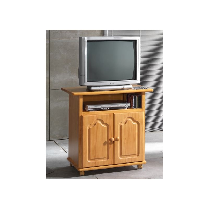 Mesa pino para tv furnet for Muebles auxiliares para television