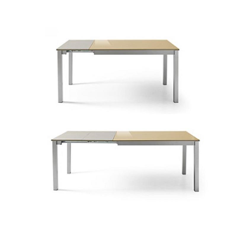 Mesa mod vitoria cristal extensible furnet - Mesas de cocina de cristal extensibles ...