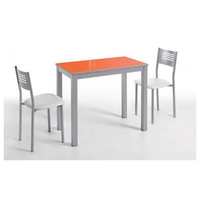 Mesa mod daimiel cristal ext lado ancho furnet - Mesas de cocina de cristal extensibles ...
