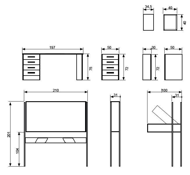 Cama alta horizontal abatible mod cat spacio 111 b furnet - Mesas de estudio a medida ...