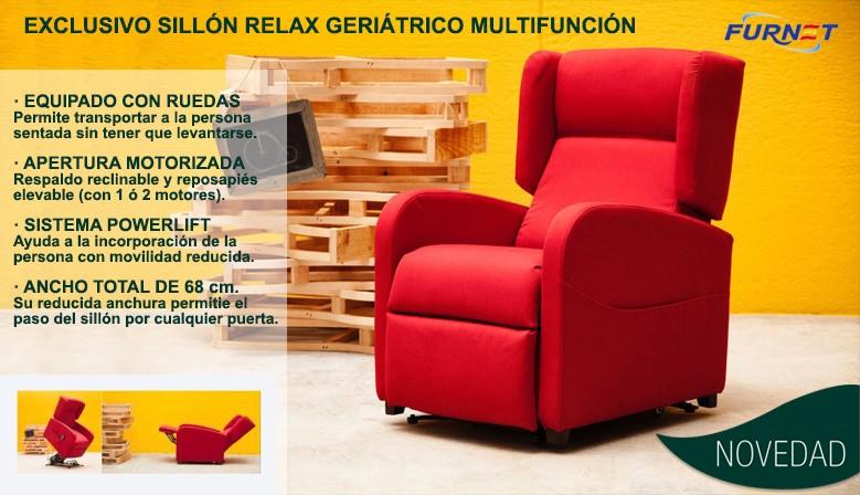 Sillón relax geriátrico multifunción