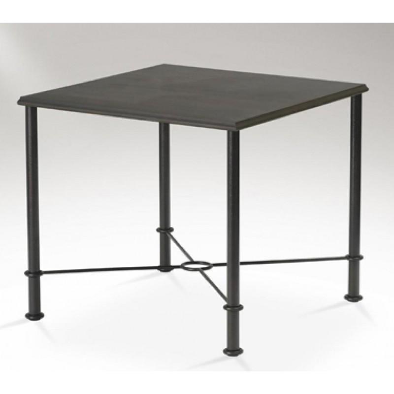 Mesa de comedor mod delta cuadrada furnet - Mesas de comedor de forja ...