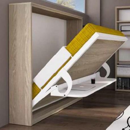 Cama horizontal abatible con escritorio mod eagle spacio - Muebles con cama abatible horizontal ...