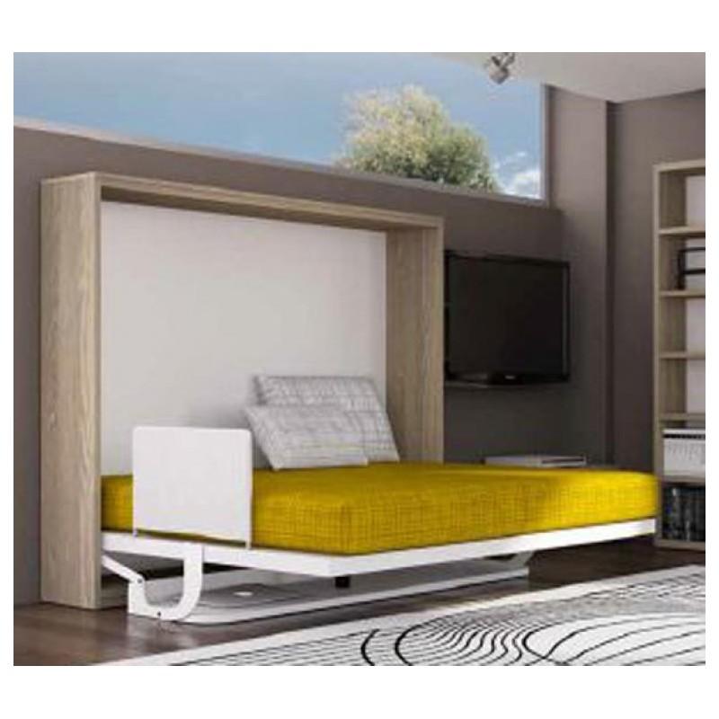 Cama horizontal abatible con escritorio mod eagle spacio - Cama abatible horizontal con escritorio ...