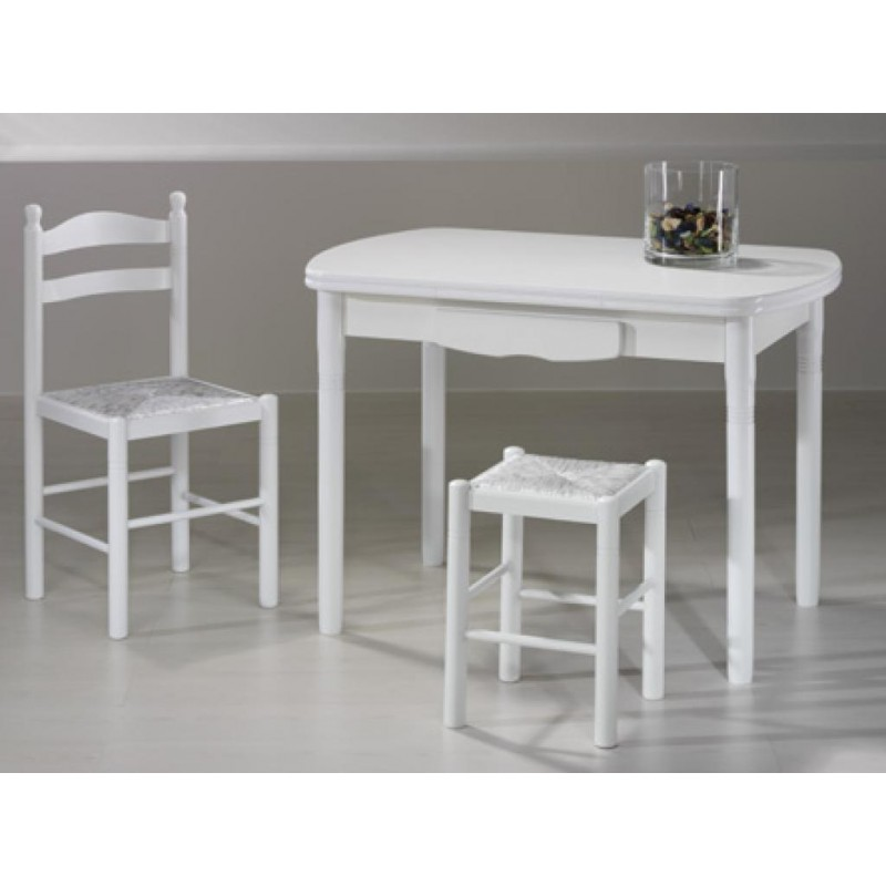 Mesa de cocina mod valladolid extensible furnet for Mesas para cocina extensibles