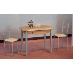 mesa de cocina mod sevilla semiovalada extensible