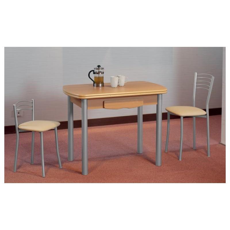 Mesa de cocina mod sevilla semi ovalada extensible furnet for Mesas de cocina zaragoza