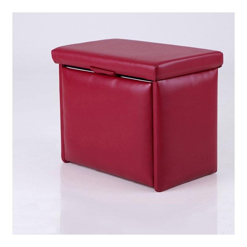 Puff zapatero tapizado 4 pares for Mueble zapatero asiento