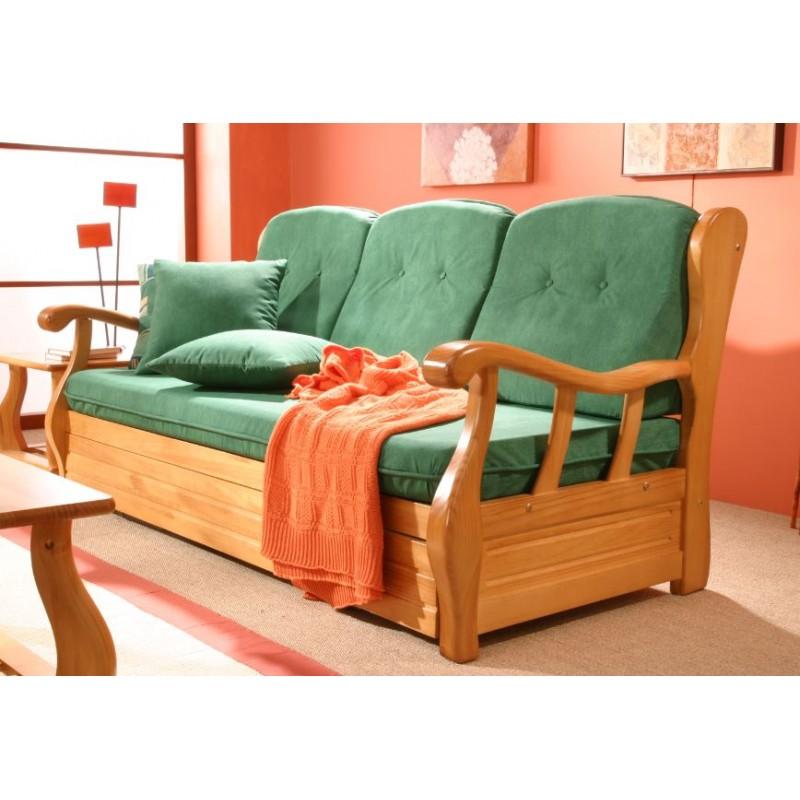 Sof nido 3 plazas provenzal mod j06 furnet for Modelos de sillon cama