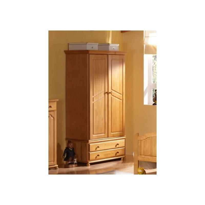 Armario pino 2 puertas capota 7 cms furnet for Puertas color pino