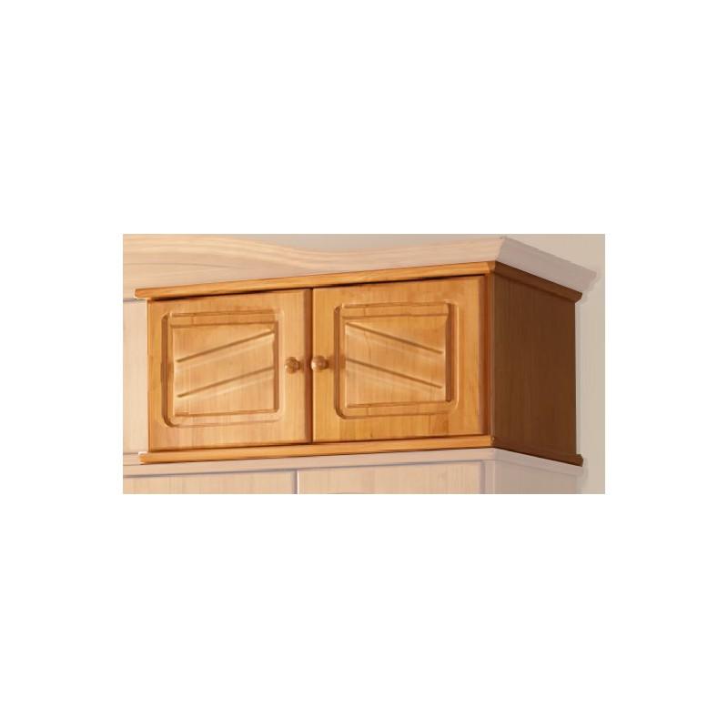 Altillo pino 2 puertas capota recta furnet for Zapateros de madera de pino
