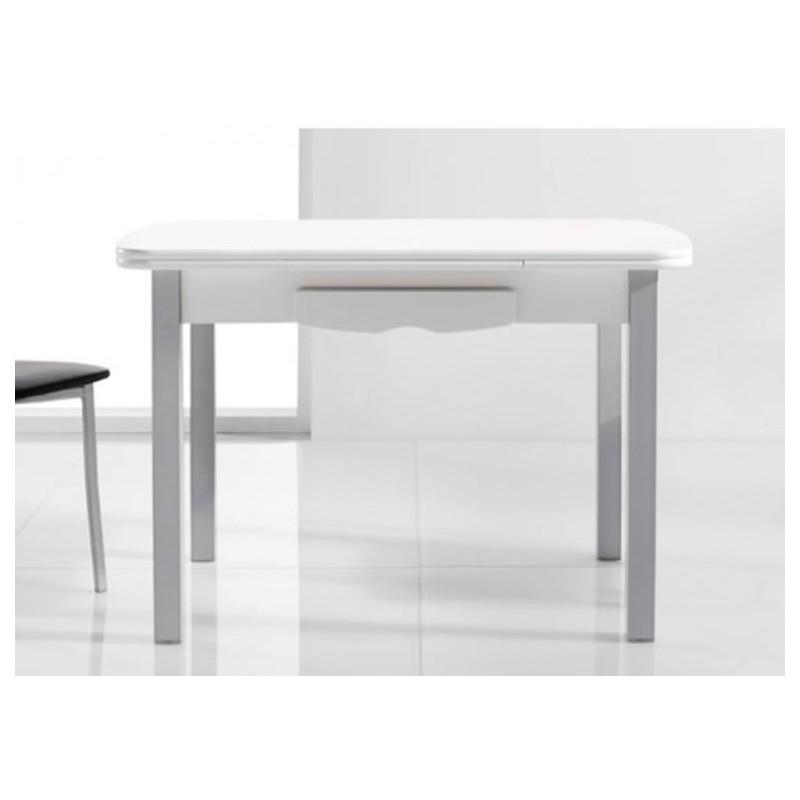 Mesa de cocina mod lanzarote extensible furnet for Mesas para cocina extensibles