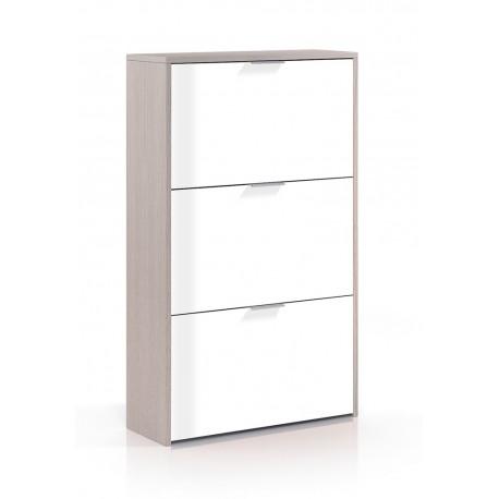 Mueble zapatero mod aire 3 puertas furnet for Armario zapatero pvc