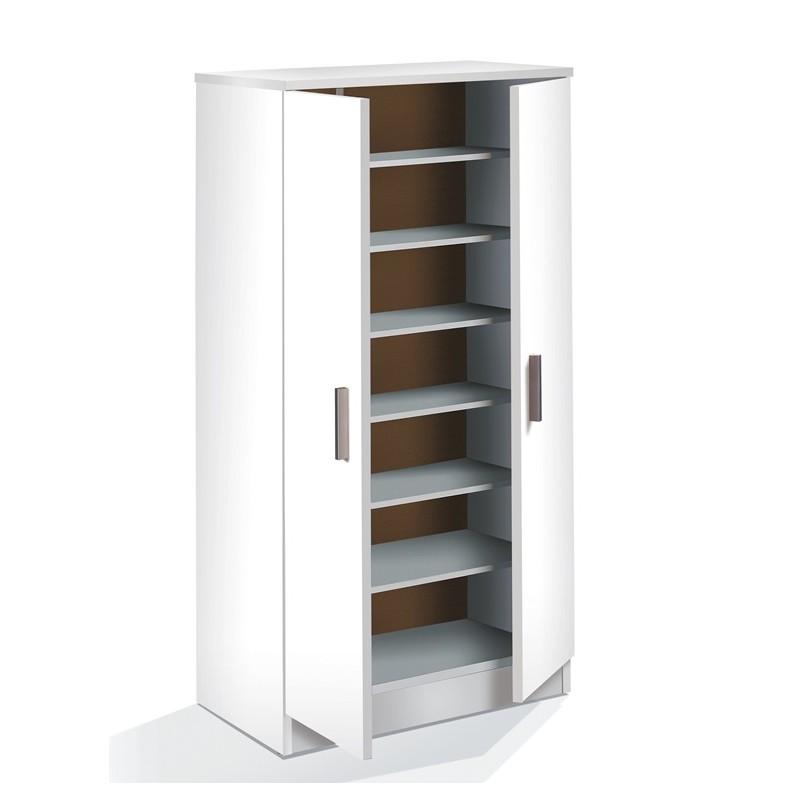 armario zapatero mod coquet blanco 2 puertas furnet