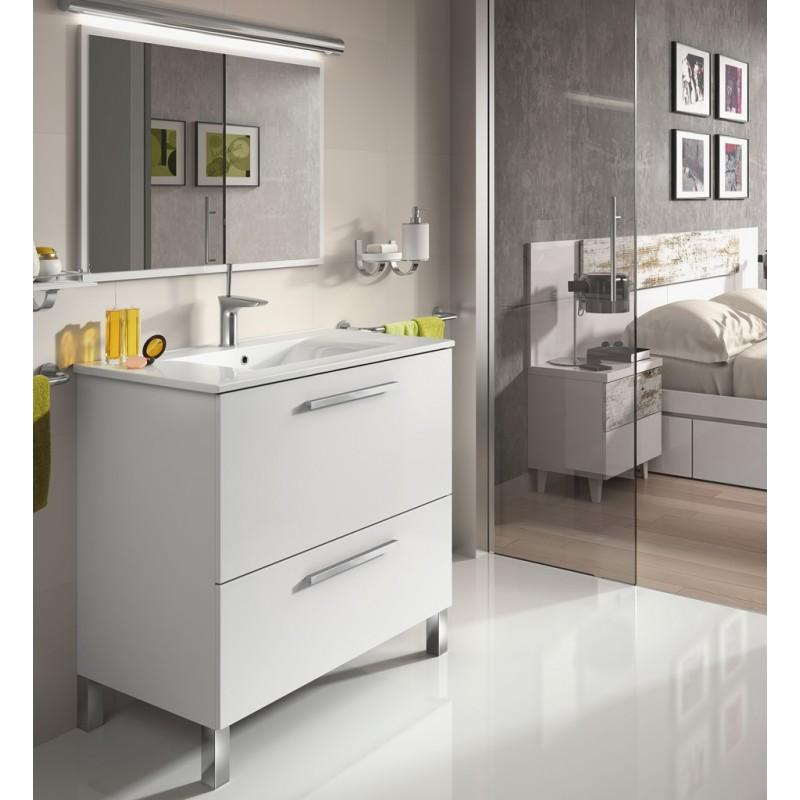 Mueble ba o con espejo mod sintra furnet for Muebles de bano con espejo