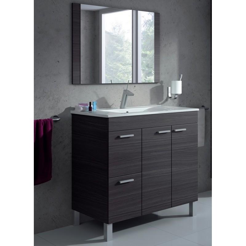 Mueble ba o con espejo mod lisboa furnet for Mueble con espejo para bano