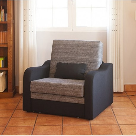 Sillon convertible 1 plaza mod trinidad 80 furnet for Sofa cama una plaza conforama