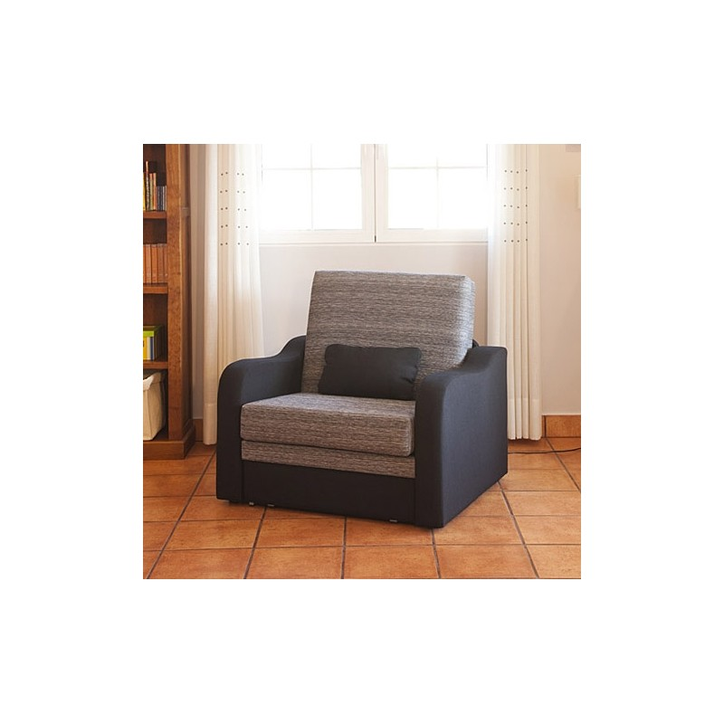Sillon convertible 1 plaza mod trinidad 80 furnet for Puff cama 1 plaza