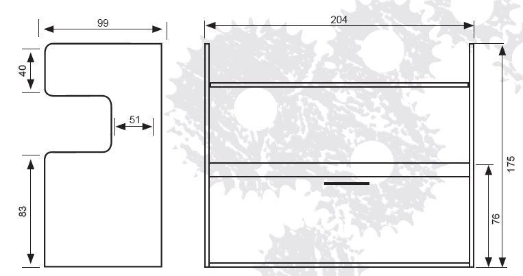 Litera horizontal abatible con mesa estudio mod parrot - Medidas camas infantiles ...
